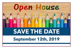 SAVE THE DATE - Open House in September